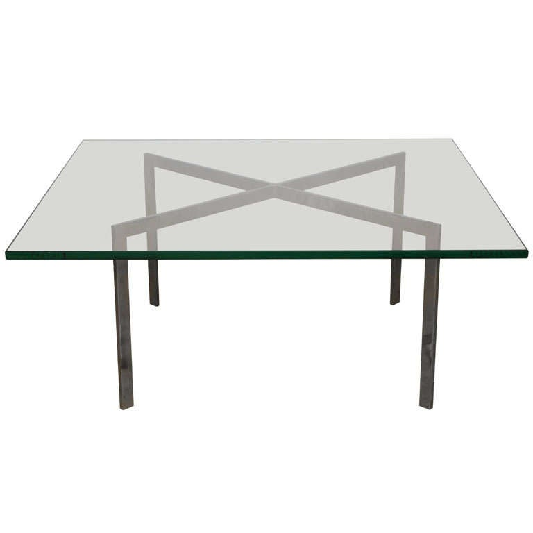 mies van der rohe coffee table at 1stdibs. Black Bedroom Furniture Sets. Home Design Ideas