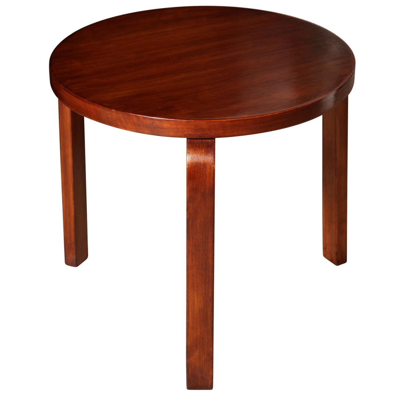 pre war alvar aalto occassional table at 1stdibs. Black Bedroom Furniture Sets. Home Design Ideas