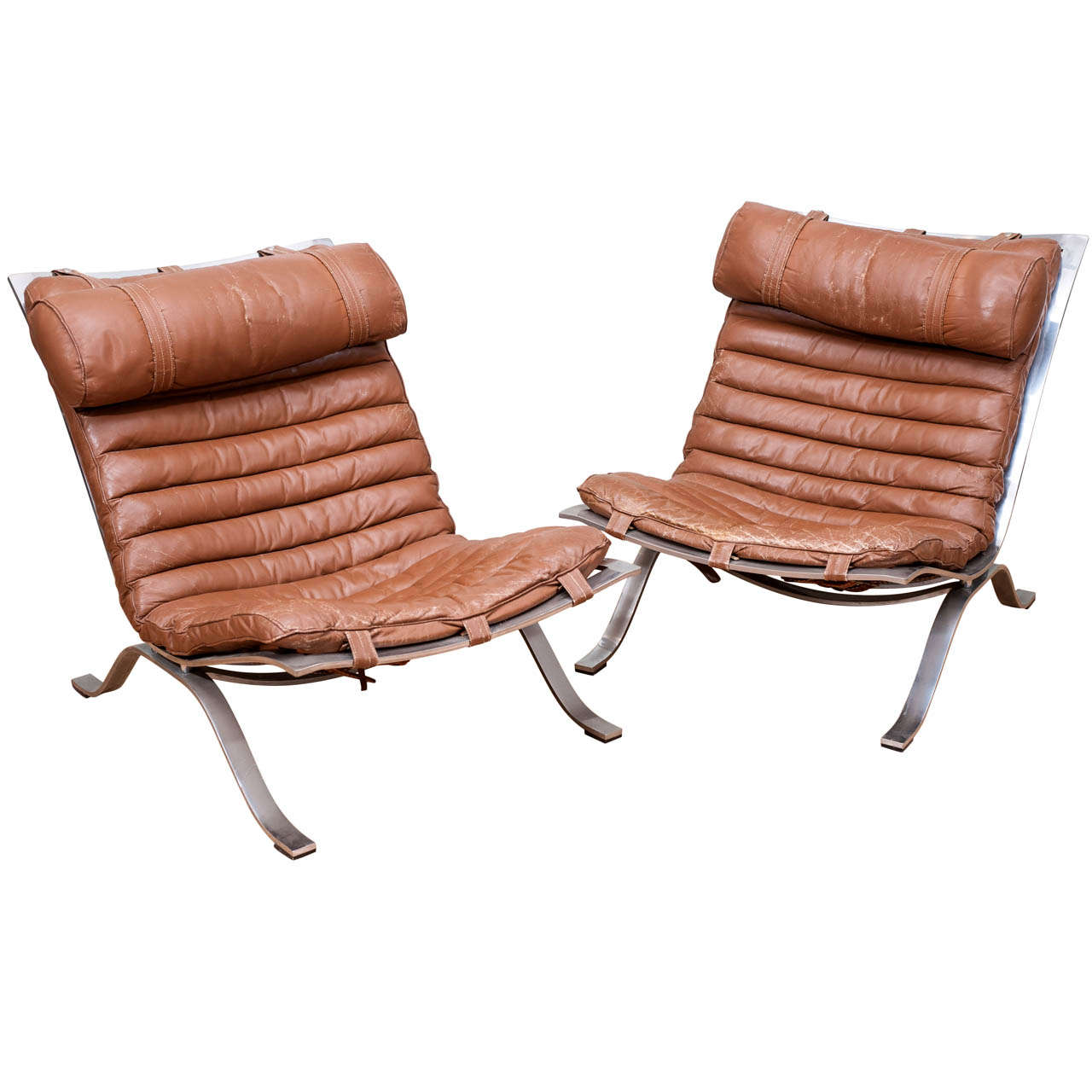 Pair Of Vintage Arne Norell Ari Lounge Chairs At 1stdibs