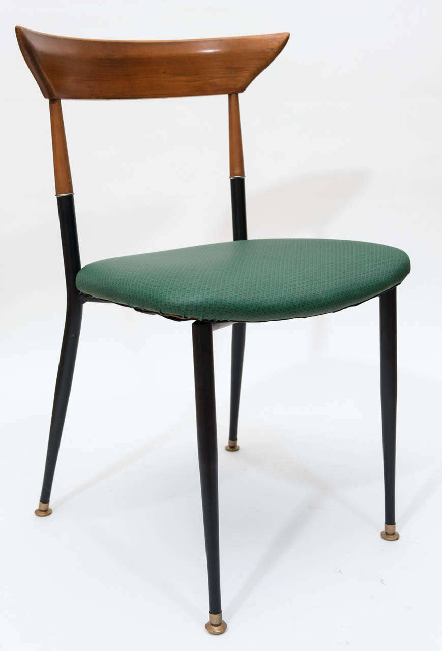 Mid century modern dining chairs at 1stdibs for Contemporary furniture dining chairs