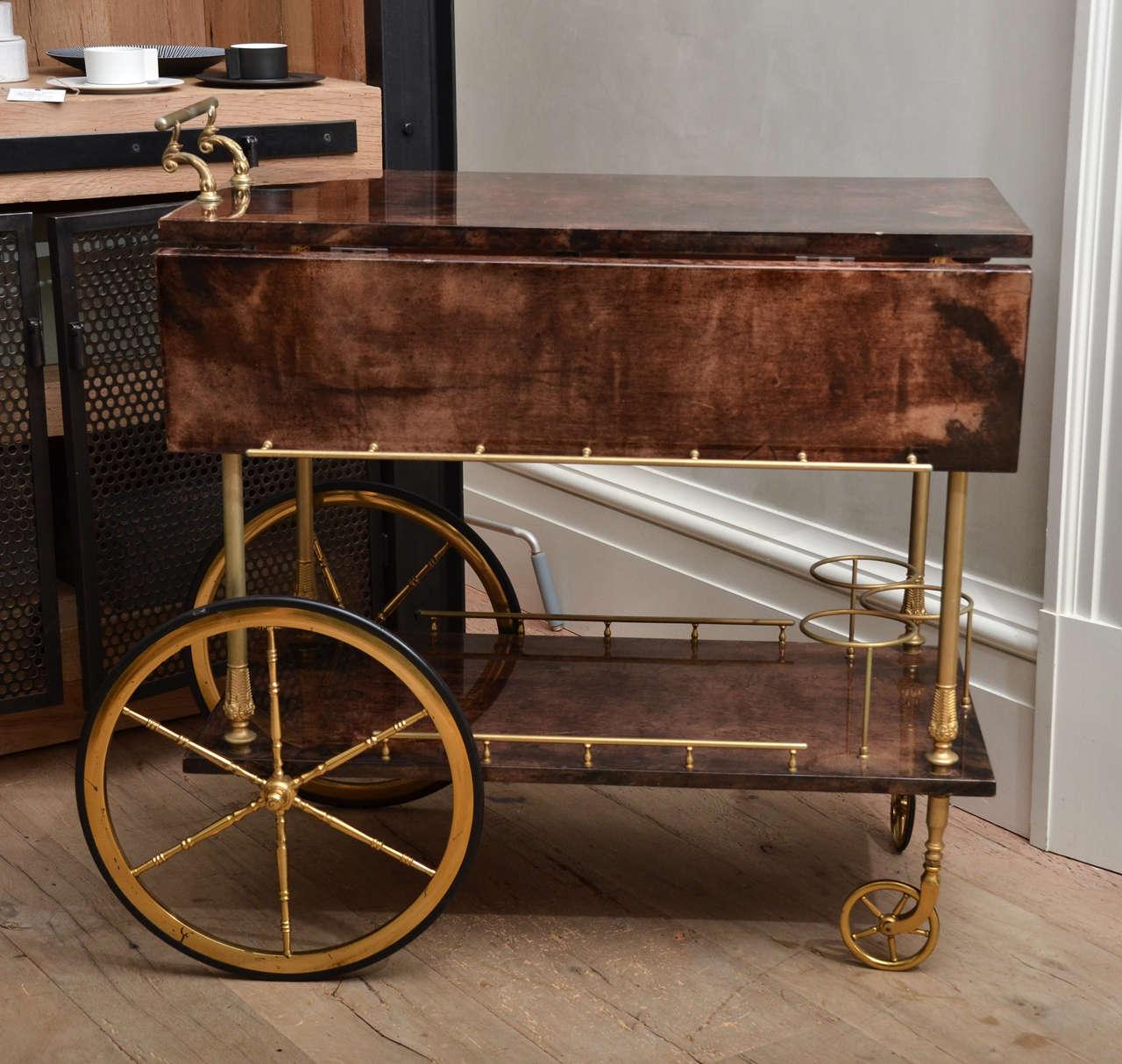 Mid-Century Italian Aldo Tura Bar Cart 2