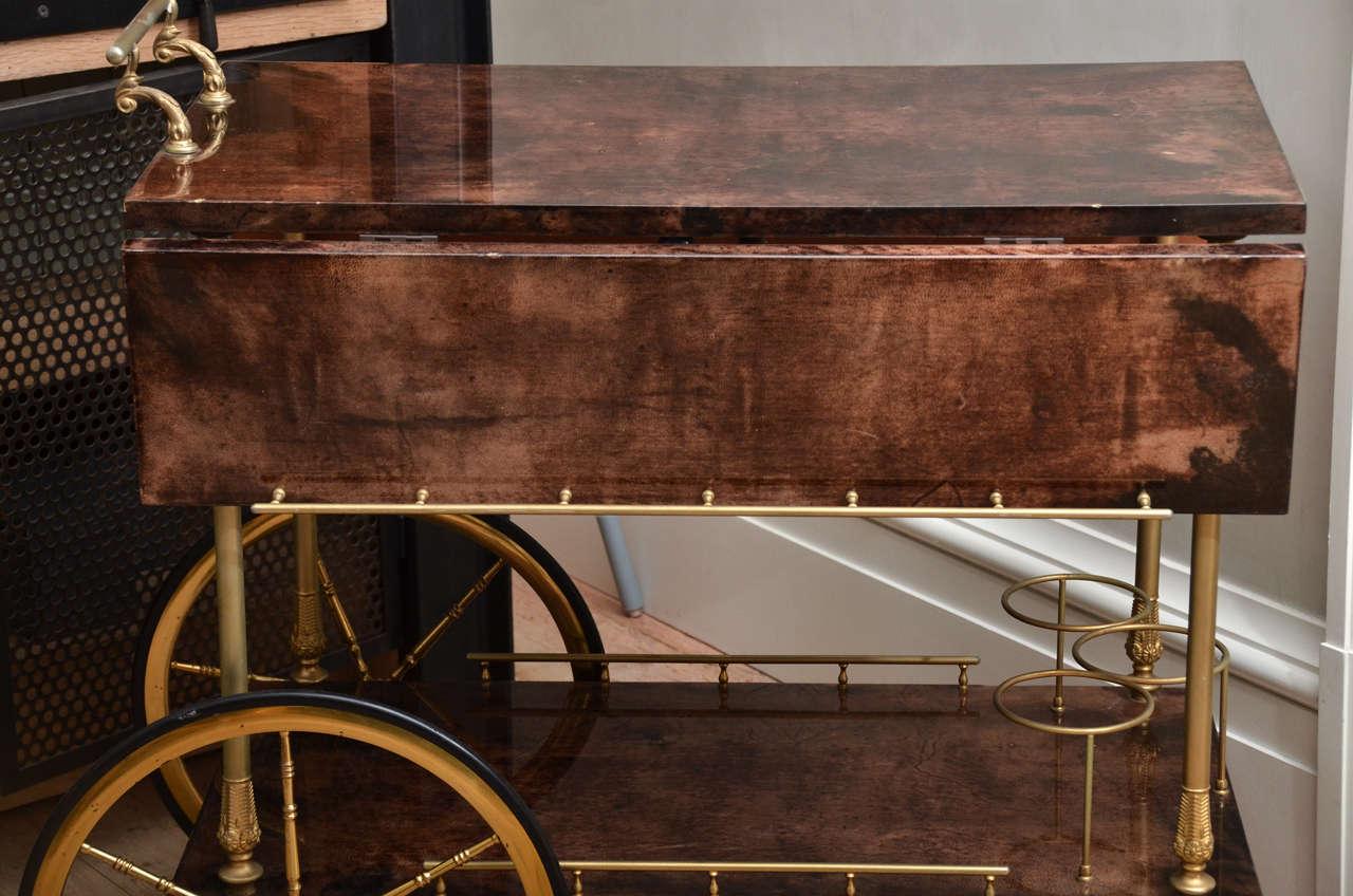 Mid-Century Italian Aldo Tura Bar Cart 5