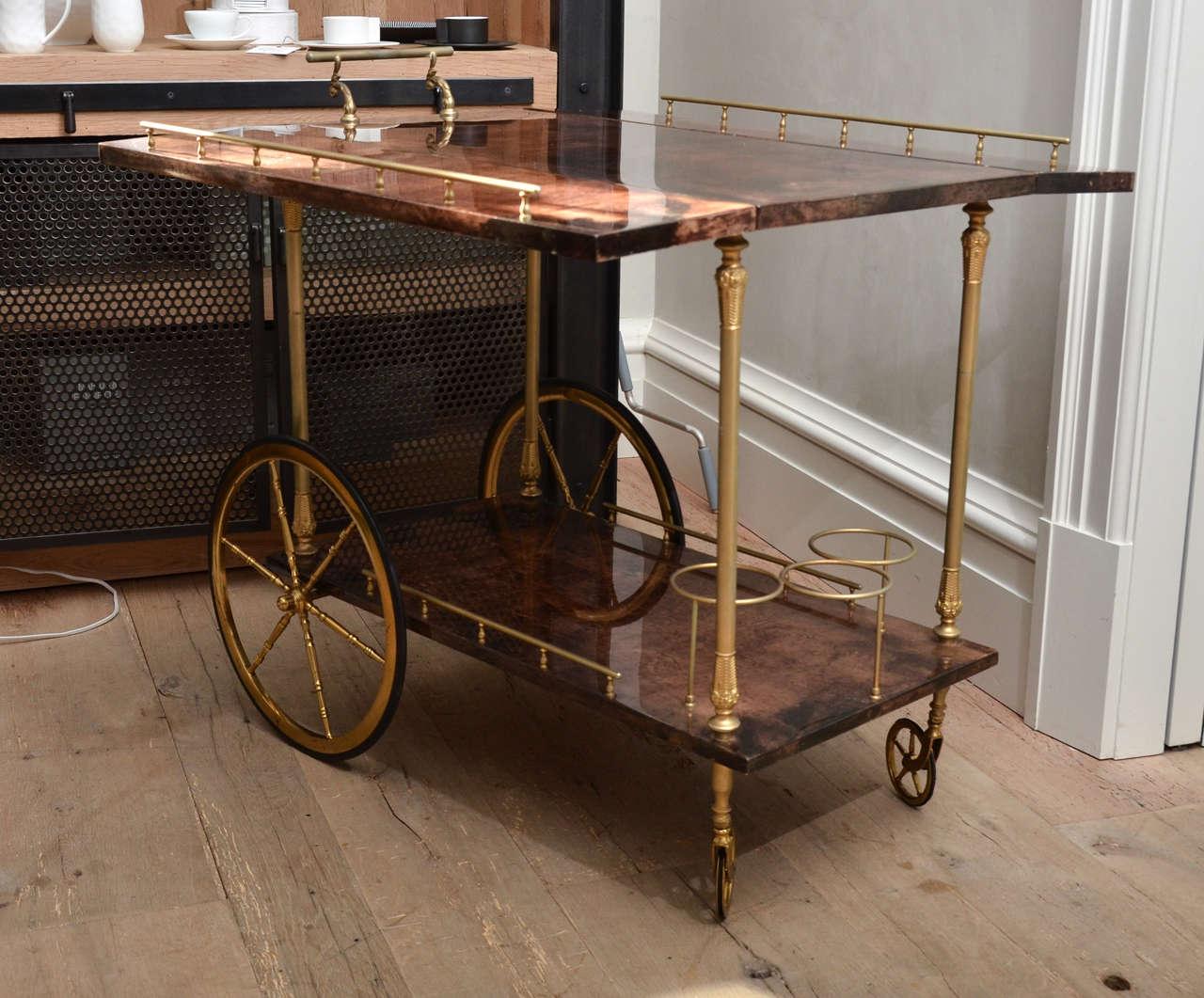 Mid-Century Italian Aldo Tura Bar Cart 6