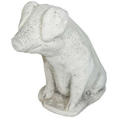 Cast Stone Pig Garden Ornament