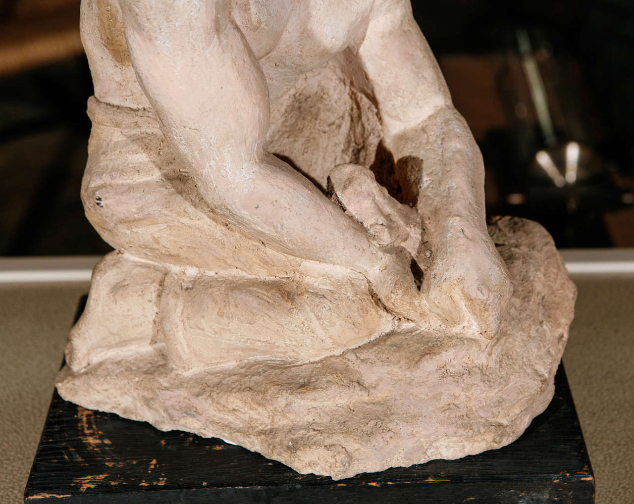 American WPA Sculpture of Man in Thought For Sale