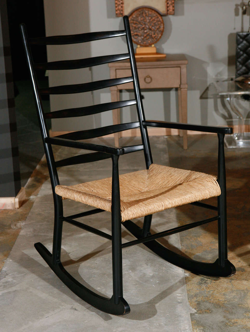 Rocking Chair In Manner Of Gio Ponti At 1stdibs