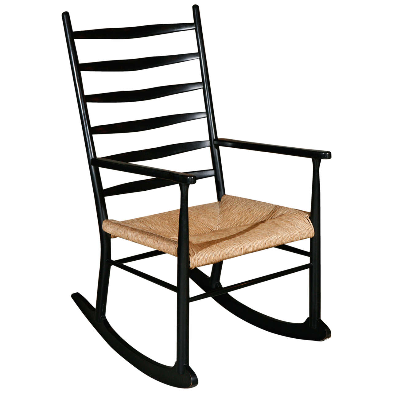 Rocking Chair In Manner Of Gio Ponti 1
