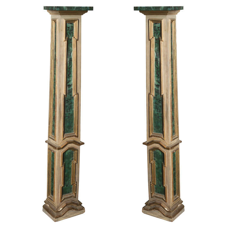 Pair of decorative columns at 1stdibs for How to build decorative columns