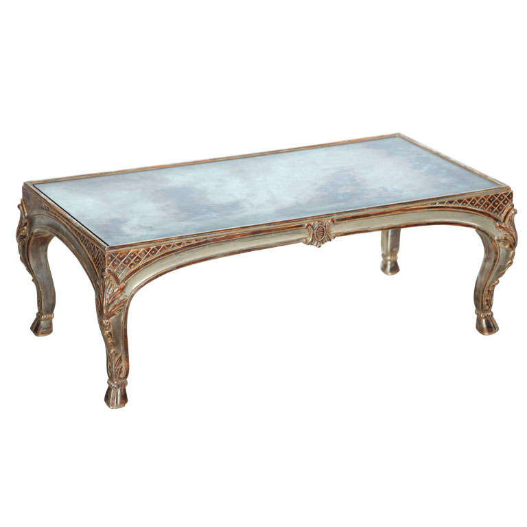Fine Maison Jansen Silver Leaf Rococo Style Low Table 1940s For Sale At 1stdibs