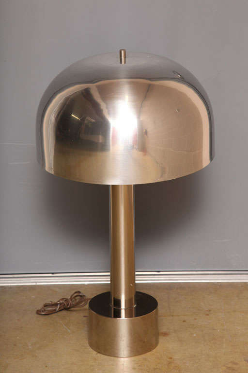 Mid-Century Modern Chrome Table Lamps by Laurel