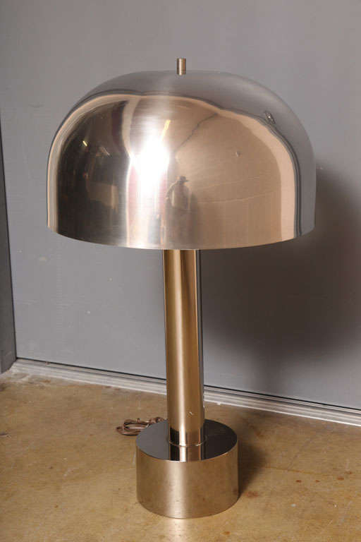 Chrome Table Lamps by Laurel In Good Condition In Miami, FL