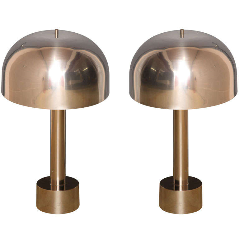 Chrome Table Lamps by Laurel