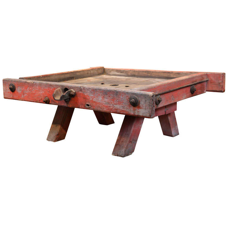 Antique French Wine Press Base As Coffee Table At 1stdibs