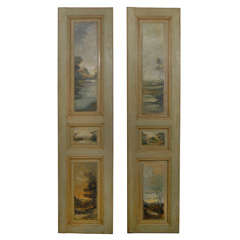 Pair of Painted French Panels