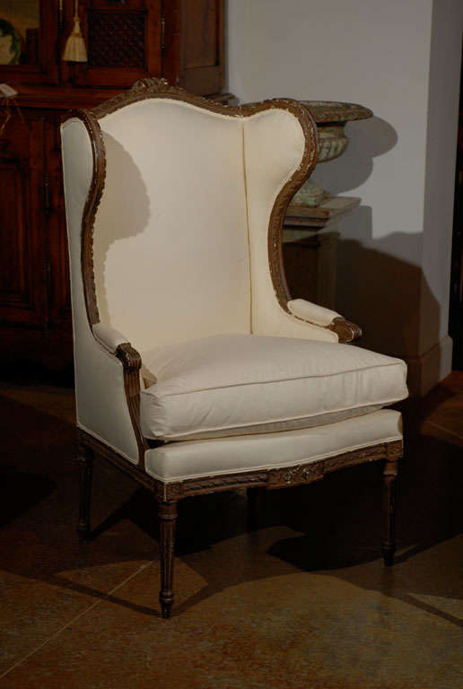Pair of Louis XVI Style Wing Bergeres 4