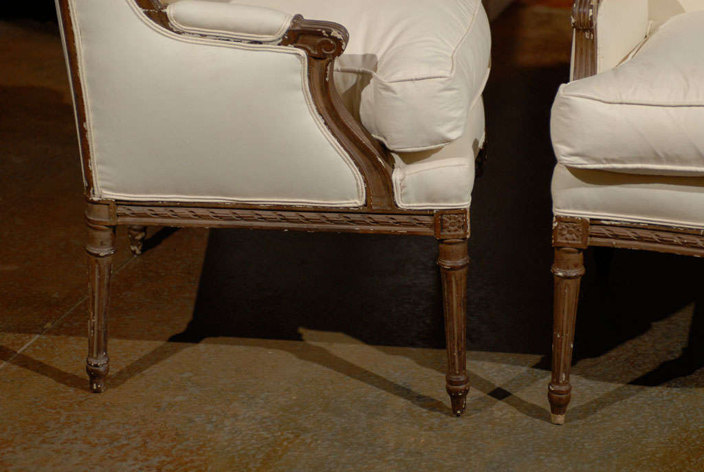 Pair of Louis XVI Style Wing Bergeres 5