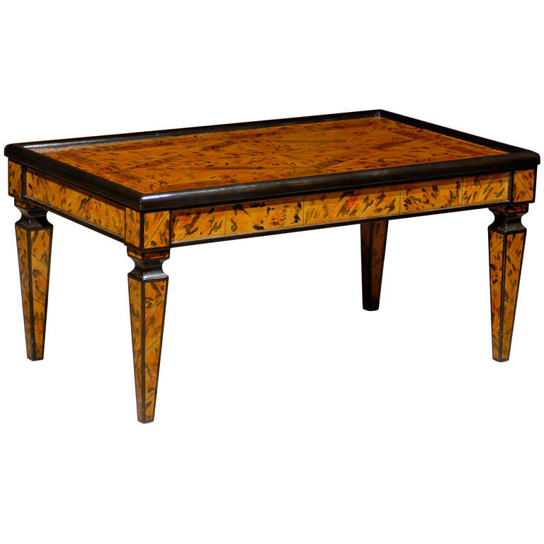Hand painted coffee table for sale at 1stdibs for Coffee tables painted