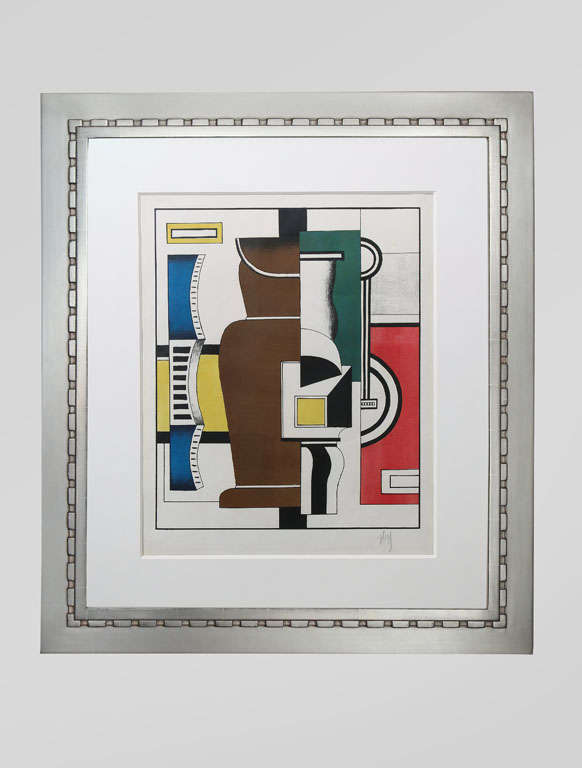 Fernand Le´ger  French, 1880-1955  Le Vase (Saphire 12) 1927 Lithograph in colors on MBM paper Edition of 100 (total edition included 1 artist's proof) Signed: F Leger in pencil Published by Galerie Simon, Paris.