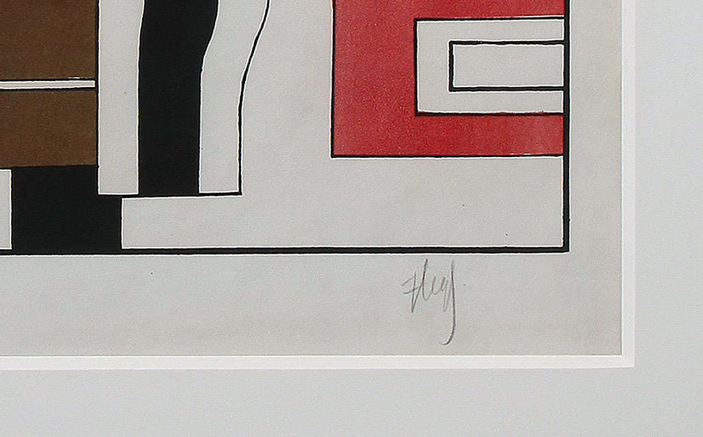 French Fernand Léger 'Le Vase' Lithograph in Colors For Sale