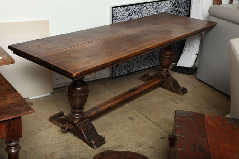 Tuscan Dark Wood Console Table At 1stdibs