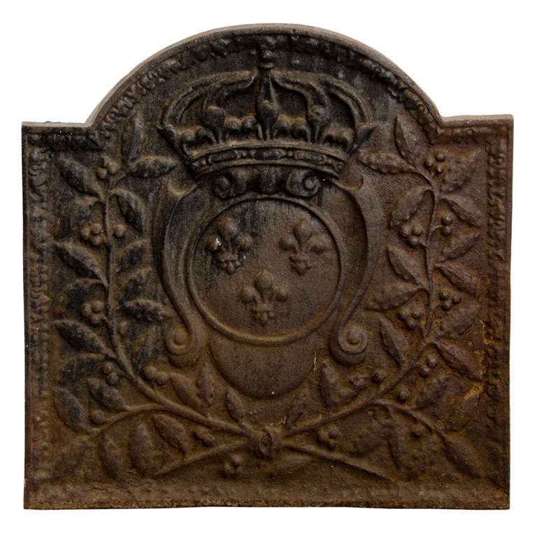 Fleur de Lys Fireplace back from France