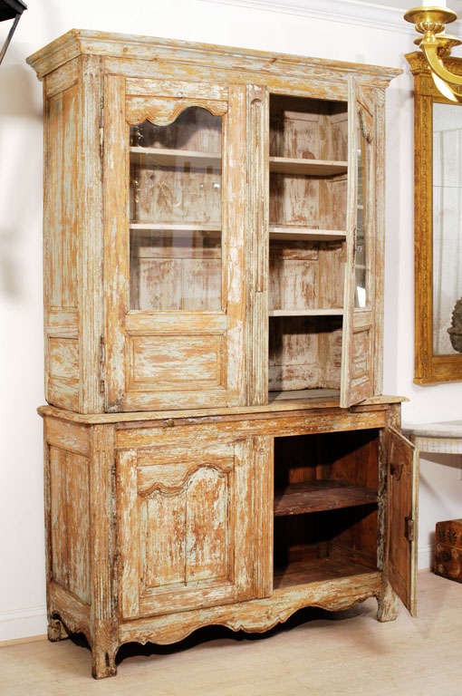 French Louis XV Buffet Deux Corps For Sale