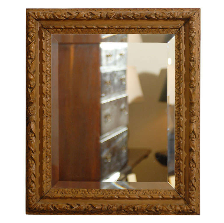 Small french pine mirror for sale at 1stdibs for Small wall mirrors for sale