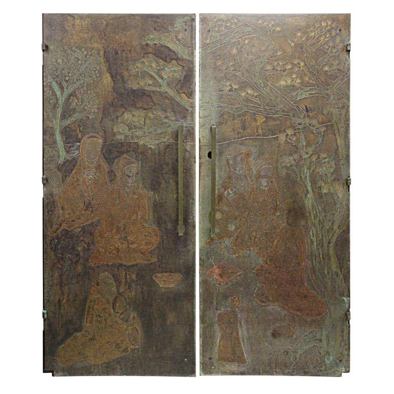 Amazing set of Bronze Doors