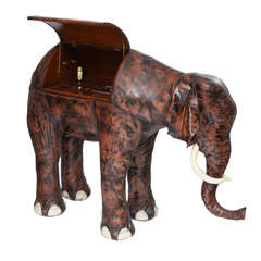 Giant Abercrombie & Fitch Leather Elephant Bar