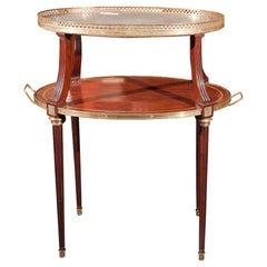 French Two-Tier Mahogany Dessert Stand Manner of Louis XVI