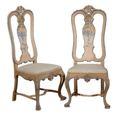 Antique Set of William and Mary Style Painted Side Chairs