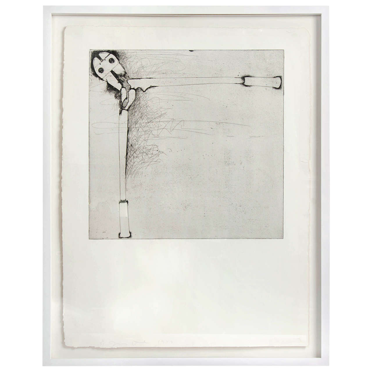 Bolt Cutters Etching by Jim Dine For Sale at 1stdibs