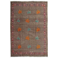 1930's Persian Art Deco Rug with Maple Leafs