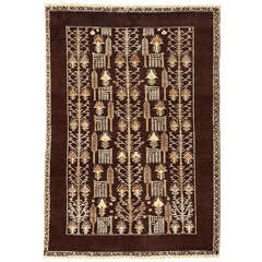 Cocoa Background Persian Modernist Rug