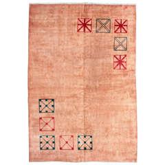Persian Art Deco Carpet Signed Amoghli