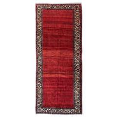 Minimalist Vintage Red Open Field Persian Rug