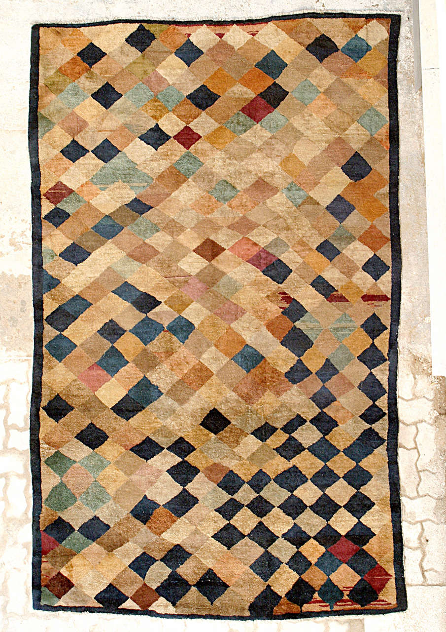 20th Century Carpet with Polychrome Lozenges For Sale