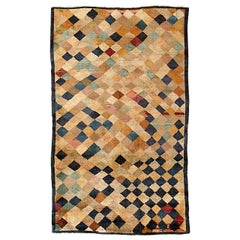 Art Deco Geometric Chinese Rug with Polychrome Lozenges