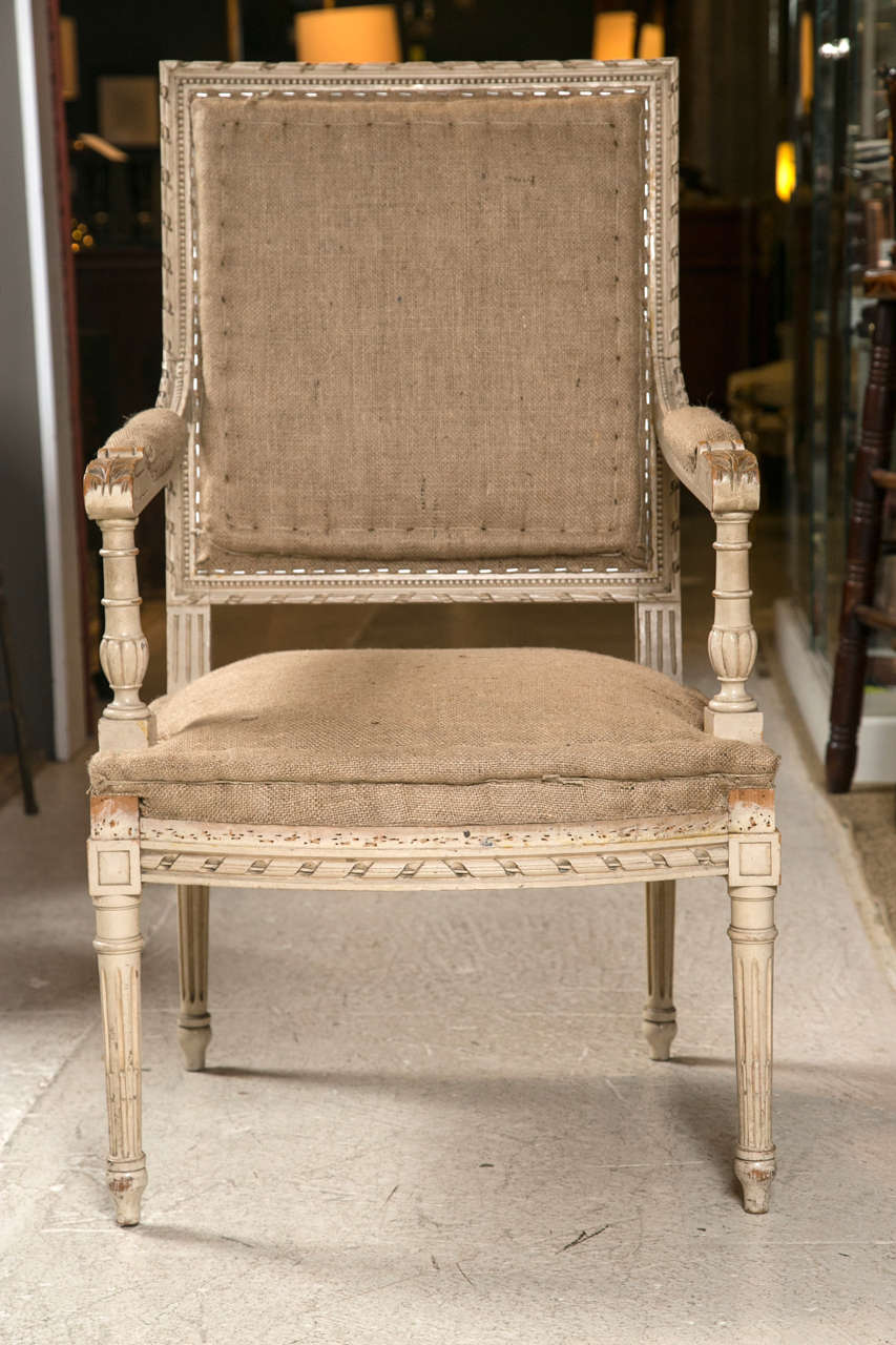 19th Century Pair of Good Size French Arm Chairs For Sale