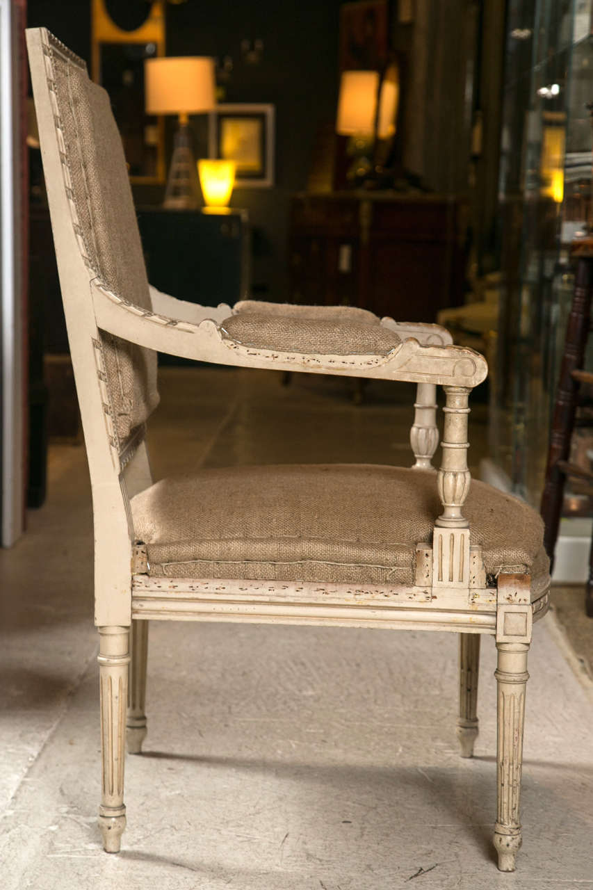 Pair of Good Size French Arm Chairs For Sale 2
