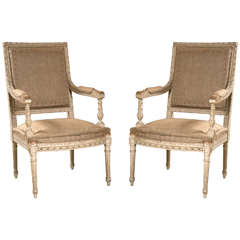 Pair of Good Size French Arm Chairs