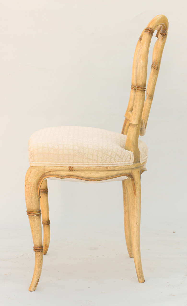 Set Of Four Faux Bamboo Chairs At 1stdibs