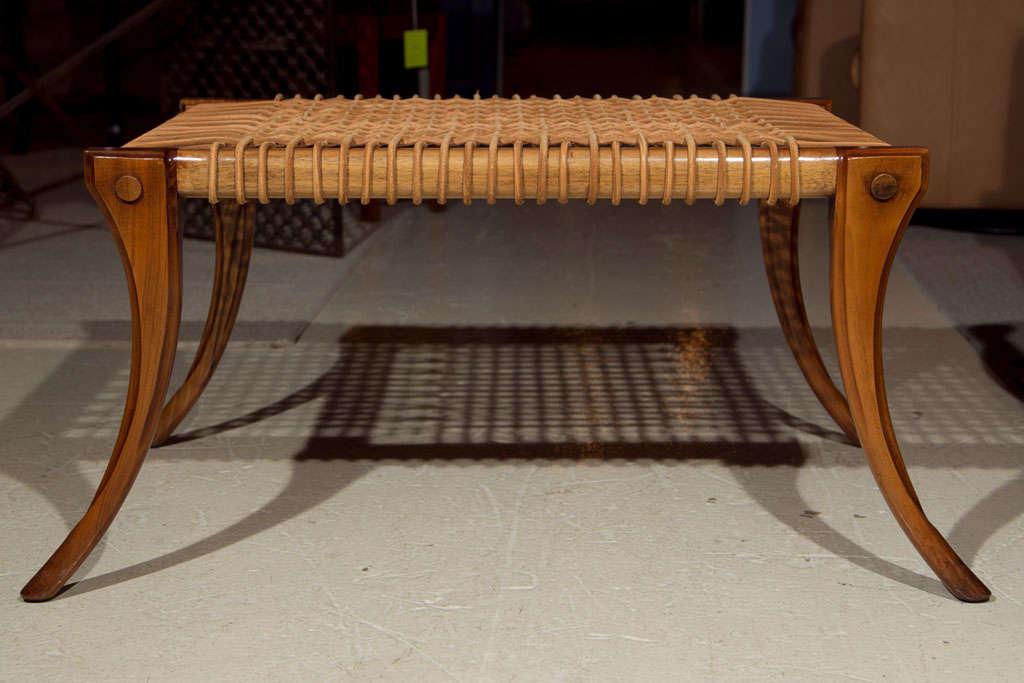 klismos leg bench ~ saber leg klismos bench at 1stdibs