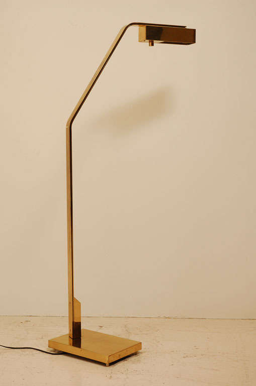 Brass Reading Floor Lamp By Casella at 1stdibs