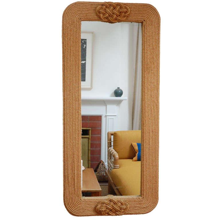 Vertical rope applique mirror at 1stdibs for Applique miroir