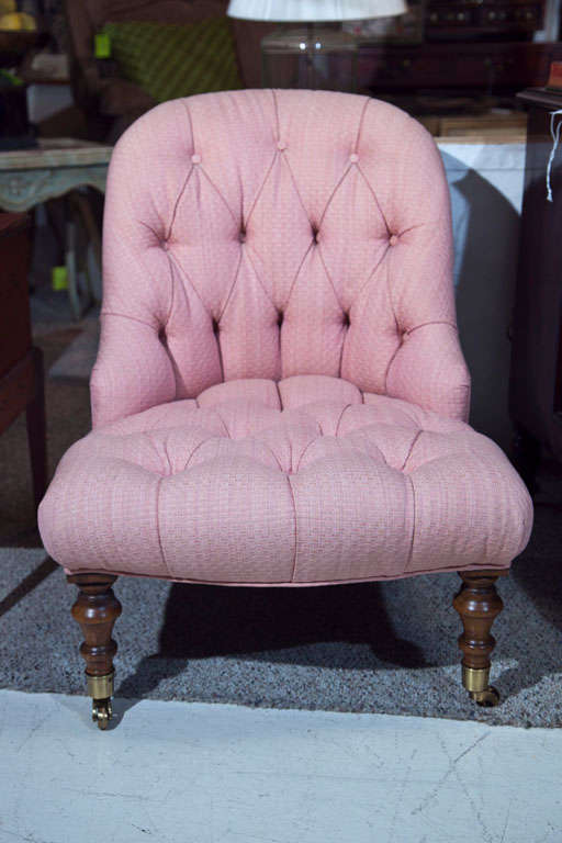 Victorian Walnut Slipper Chair-Edward Ferrell LTD 4