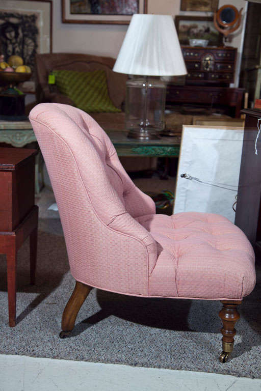Victorian Walnut Slipper Chair-Edward Ferrell LTD 6