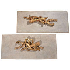 Pair of Panels with 19th C. Architectural Fragments