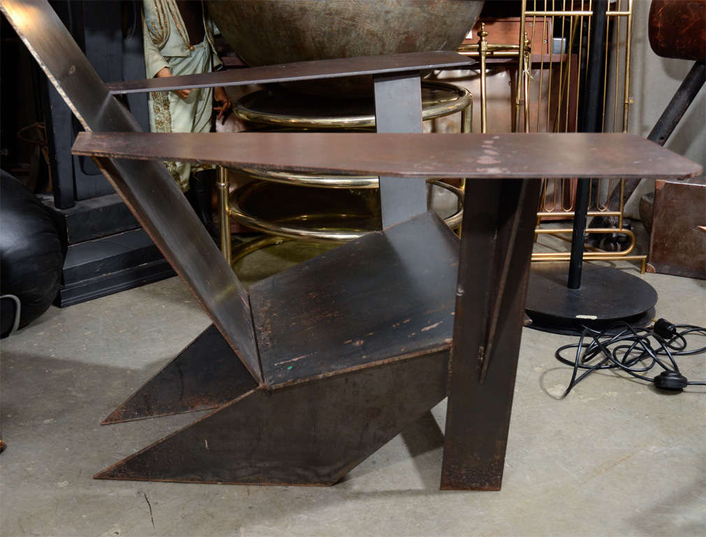 A unique pair of steel adirondack style chairs at 1stdibs - Adirondack style bedroom furniture ...