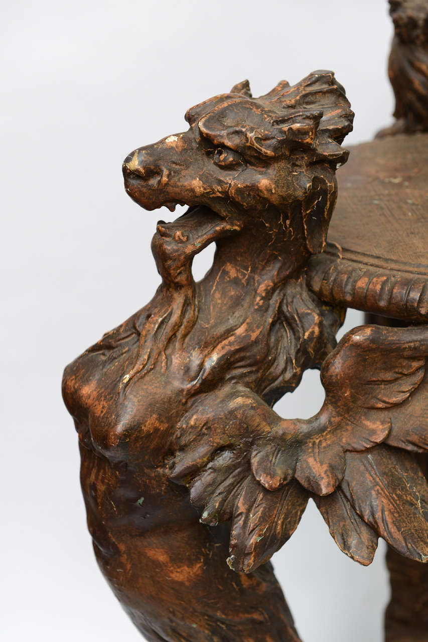 Italian Carved Griffin Pedestal At 1stdibs